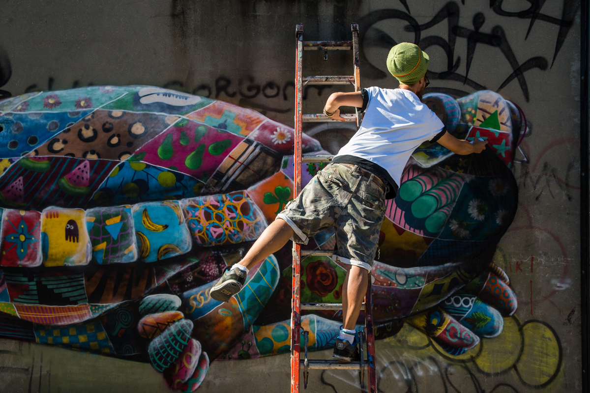 louis masai mural in new york of a bog turtle